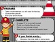 Editable FIRE PREVENTION Themed Morning Work PowerPoint Templates