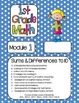 Editable FIRST Grade Math Engage New York Binder Covers - Blue Dots