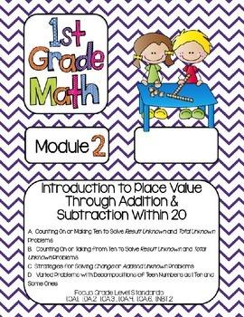 Editable FIRST Grade Math Engage New York Binder Covers - Purple Chevron