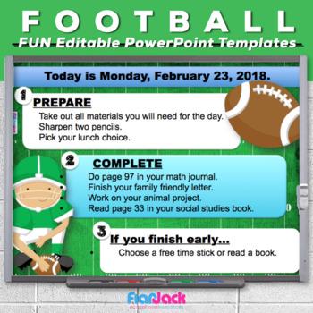 Editable FOOTBALL PowerPoint Templates