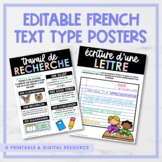Editable FRENCH Text Type Posters | Printable & Digital