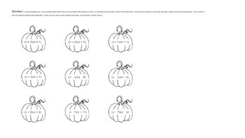 Editable - Factoring Pumpkins