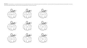 Editable - Factoring Pumpkins