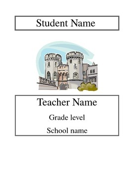 *Editable* Fairy Tale Theme student binder cover
