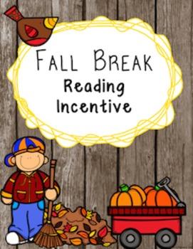 Editable Fall Break Reading Incentive