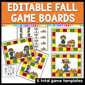 Editable Fall Game Board Templates