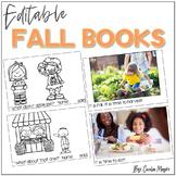Editable Fall Mini Books