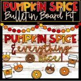 Fall Themed Bulletin Board Kit - Editable