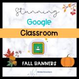 Editable Fall Themed Google Classroom Banners