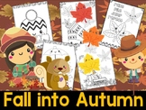 Editable Fall into Autumn Coloring Pages - The Crayon Crowd