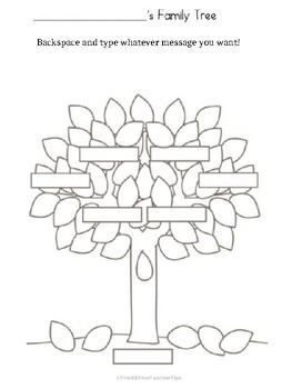 Editable Family Tree