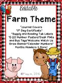 Editable Farm Theme Growing Bundle