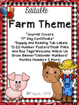Editable Farm Theme Growing Bundle