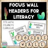 Editable Farmhouse Cactus Focus Wall Headers
