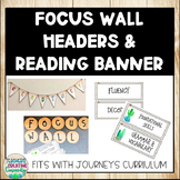 Editable Farmhouse Cactus Focus Wall Headers with Reading Banner