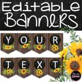Editable Farmhouse Classroom Decor Banners
