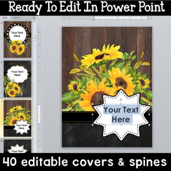 Editable Farmhouse Classroom Decor Binder Covers and Spines