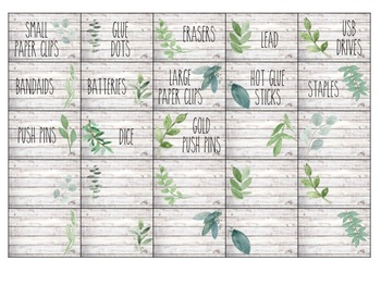 Editable Farmhouse Decor Teacher Toolbox Labels