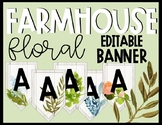 Editable Farmhouse Floral Banner