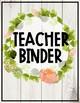 Editable Farmhouse Floral Binder Covers
