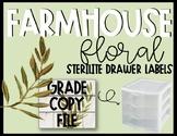 Editable Farmhouse Floral Grade Copy File Sterlite Labels