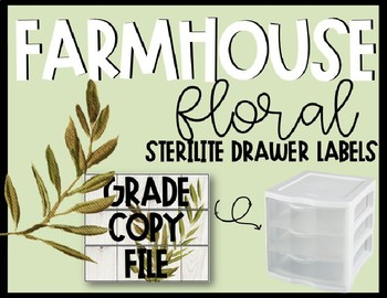 Editable Farmhouse Floral Grade Copy File Sterlite Labels