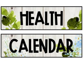 Editable Farmhouse Floral Schedule Cards