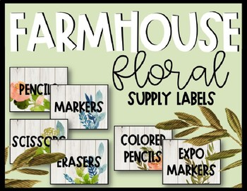 Editable Farmhouse Floral Supply Labels