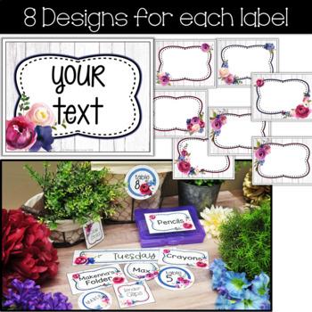 Editable Farmhouse Classroom Decor Labels