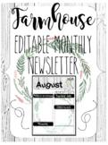 Editable Farmhouse Shiplap Parent Newsletter