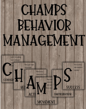 Editable Farmhouse Wood CHAMPS Posters