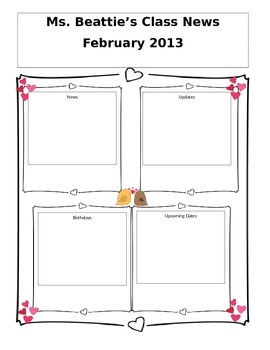Editable February Newsletter
