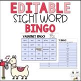 Editable February Valentine's Day Sight Word Bingo
