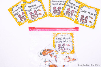 Editable Feed the Bunny Sight Word Game