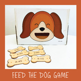 Editable Feed the Dog Game- phonics, vocabulary, Maths game