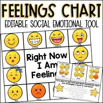 Editable Feelings Chart