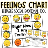 Editable Feelings Chart Social Emotional Tool