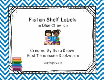 Editable Fiction Labels for Shelf Markers in Blue