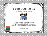 Editable Fiction Labels for Shelf Markers in Gray