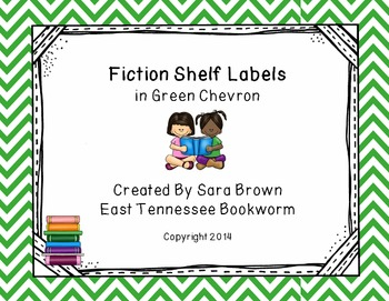 Editable Fiction Labels for Shelf Markers in Green