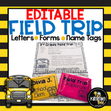 Editable Field Trip Letter and Forms
