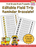 Editable Field Trip Reminder Bracelets $1.00