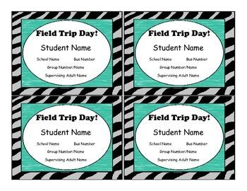 """Editable Field Trip Tags, """"Animal"""""""