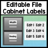 Editable File Cabinet Labels {3 Sizes!} {Easy, Editable Pages}