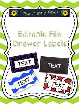 Editable File Drawer Labels
