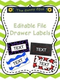 Editable File Drawer Labels