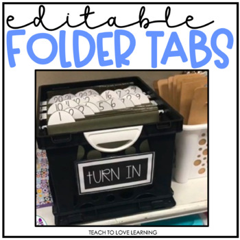 Editable File Folder Tabs