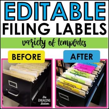 Editable Filing Cabinet Labels/Strips