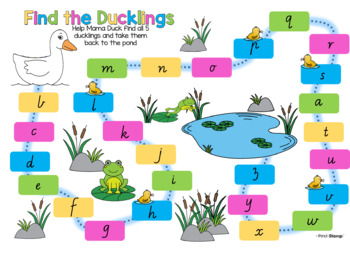 Editable Find the Ducklings - Sight words, Letter Recognition, Spelling Words