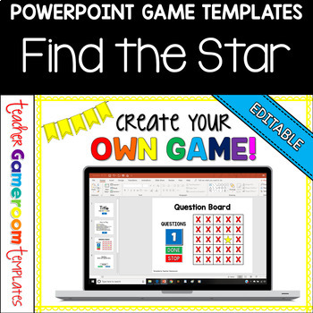 Editable Find The Star Powerpoint Game Template By Teacher Gameroom